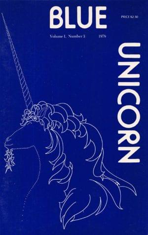 Blue Unicorn - Vol. 01, No. 3 (Jun. 1978) Cover